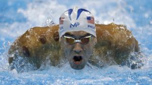 United States' Michael Phelps competes in a men's 200-meter butterfly heat during the swimming competitions at the 2016 Summer Olympics, Monday, Aug. 8, 2016, in Rio de Janeiro, Brazil. (AP Photo/Michael Sohn)